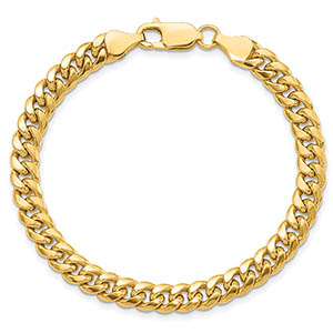 14K Gold Lighterweight 6mm Miami Cuban Link Bracelet