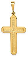 14K Gold Celtic Cross Pendant