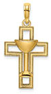 14K Gold Communion Cross Necklace