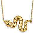 14K Gold Diamond-Cut Snake Necklace