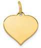 14K Gold Engravable Heart Necklace Pendant