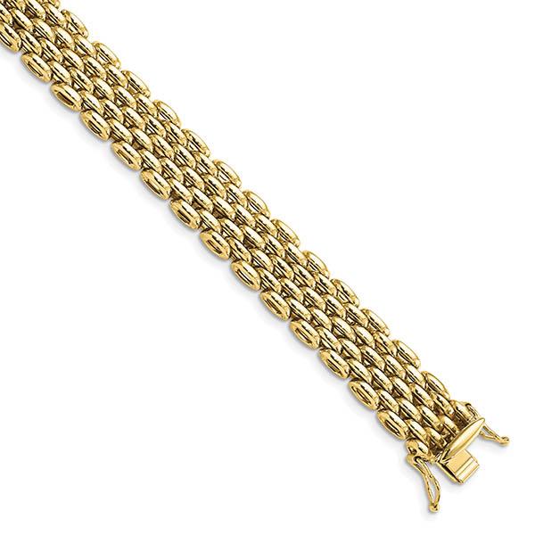 14K Gold European Bismark Bracelet