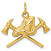 14K Gold Fire Department Firefighter Insignia Pendant