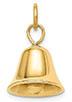 14K Gold Movable Wedding Bell Pendant