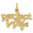 14K Gold Perfect Wife Necklace Pendant