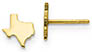 14K Gold Small Texas Stud Earrings, Engravable