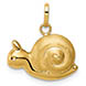 14K Italian Gold Snail Charm Pendant