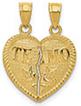 Te Amo 14K Gold Break Apart Heart Necklace