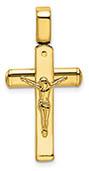 14K Italian Gold Crucifix Pendant