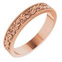 14K Rose Gold Sculptured Paisley Wedding Band Ring