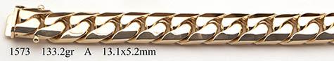 14K Solid Gold Handmade Miami Cuban Curb Link Bracelet