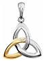 14K Two-Tone Gold Celtic Trinity Knot Pendant