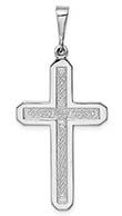 14K White Gold Celtic Cross Necklace
