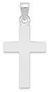 14K White Gold Plain Medium Cross Pendant