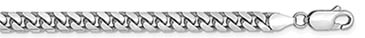 14K White Gold 4.3mm Miami Cuban Link Chain Necklace, 24 Inches