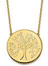 Italian 14K Yellow Gold Tree of Life Necklace