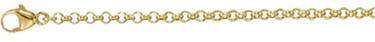 18K Gold Rolo Chain Necklace (2.4mm)
