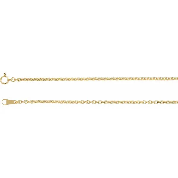 2.2mm 18K Gold Cable Chain Necklace