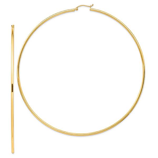 """4"""" 14k Gold Hoop Earrings in 14k Gold"""