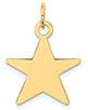 Engravable Star 14K Gold Charm Pendant