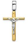 Italian 14K Two-Tone Gold Crucifix Necklace