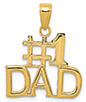 14K Gold #1 Dad Pendant