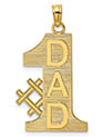 14K Gold #1 Dad Necklace Pendant