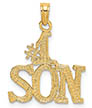 14K Gold #1 Son Pendant Necklace