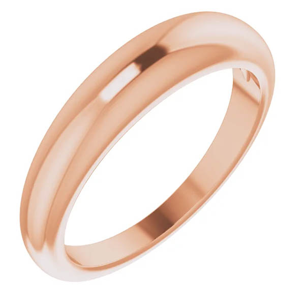 14K Rose Gold Tapered 4mm Women's Band Ring