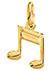 Double Sixteenth Note Music Pendant, 14K Gold