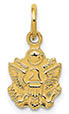 Small 14K Gold US Army Insignia Charm Pendant