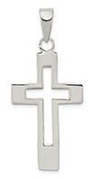 Men's Sterling Silver Cut-Out Cross Pendant