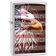 Zippo American Flag Bald Eagle Lighter
