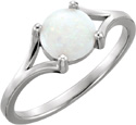 Round Australian Cabochon Opal Ring