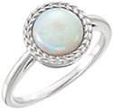 Round Weave Australian Opal Ring