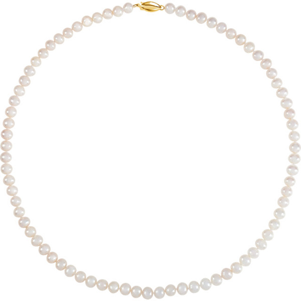 Freshwater Cultured Pearl Strand Necklace, 14K Gold