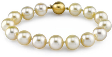 10-11mm Champagne Golden South Sea Pearl Bracelet