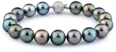 10-11mm Tahitian South Sea Multicolor Pearl Bracelet (Necklaces, Apples of Gold)