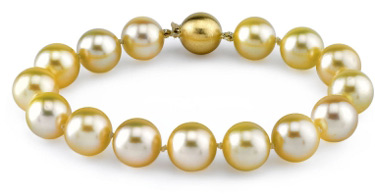 11-12mm Dark Golden South Sea Pearl Bracelet