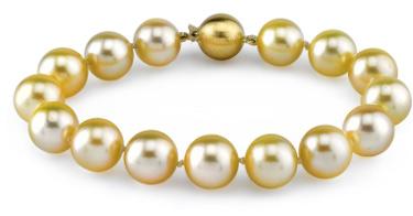 11-12mm Dark Golden South Sea Pearl Bracelet