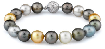 jewelpearl.com view the photo of  11-12mm Tahitian & Golden South Sea Pearl Bracelet
