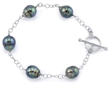Buy 9mm Tahitian Baroque Pearl Tincup Bracelet