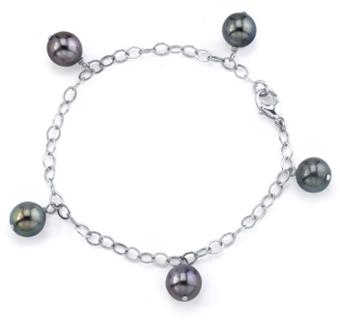 Buy 9-10mm Tahitian Multicolor Pearl Dangling Tincup Bracelet