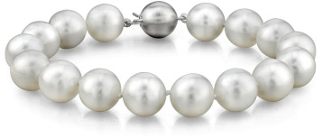 9-10mm White South Sea Pearl Bracelet - AAAA Quality