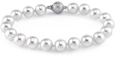 9-10mm White Freshwater Pearl Bracelet