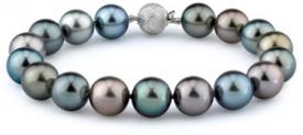10-11mm Tahitian South Sea Multicolor Pearl Bracelet