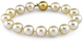 11-12mm Champagne Golden South Sea Pearl Bracelet