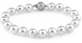 8-9mm White Freshwater Pearl Bracelet - AAAA Quality