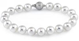 8-9mm White Freshwater Pearl Bracelet - AAAA Quality