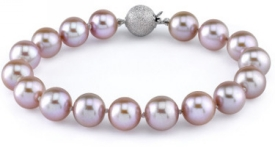 9-10mm Lavender Freshwater Pearl Bracelet - AAAA Quality